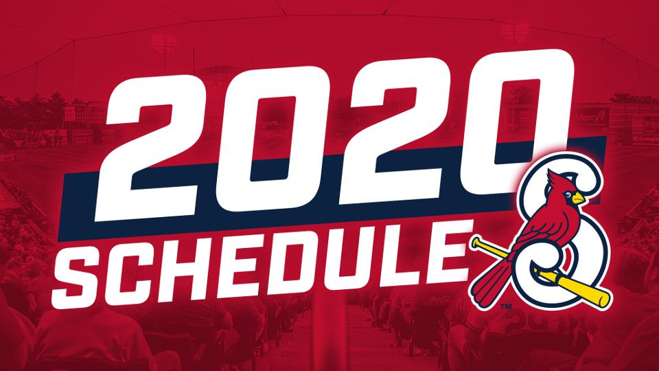 Cardinals Home Opener 2020.Springfield Cardinals 2020 Schedule Released Springfield