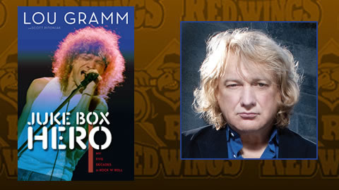Lou Gramm will sing the Anthem before the July 26 Red Wings game.