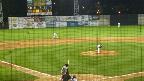 The Clinton LumberKings beat the Wisconsin Timber Rattlers 2-1 at Ashford University Field on June 25, 2013.