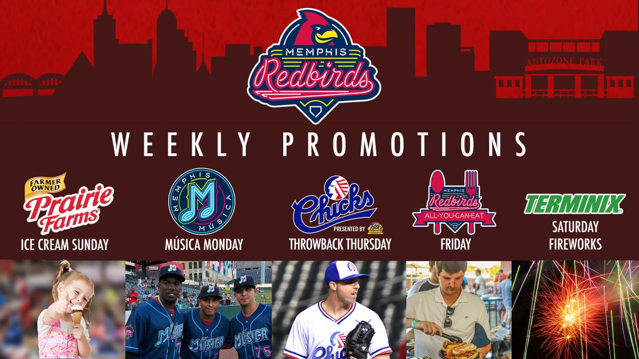 Redbirds Announce Weekly Promotions for 2019