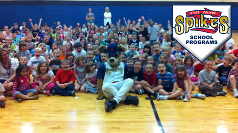 Spikes mascots, players and staff can visit your school as part of each program