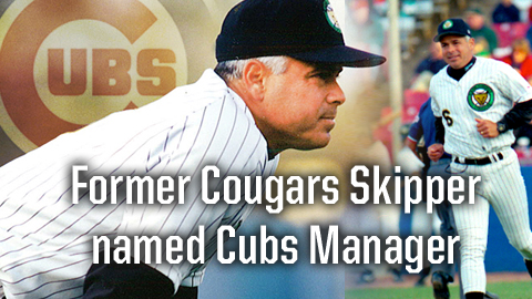 Former Cougars manager Rick Renteria was named the 53rd manager of the history of the Chicago Cubs on Thursday.