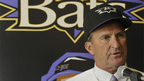 New Louisville Bats manager Jim Riggleman speaks to the media Monday afternoon at Louisville Slugger Field.