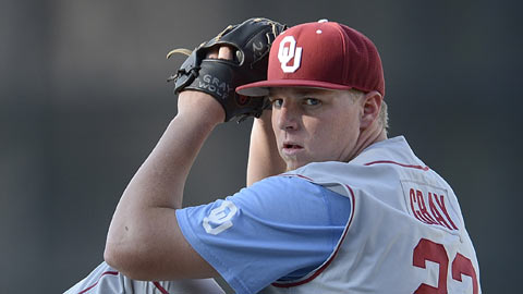 The Colorado Rockies made Oklahoma's Jonathan Gray the third pick in the Draft.