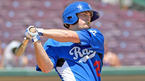 Scott Schebler leads the Cal League with a .627 slugging percentage.