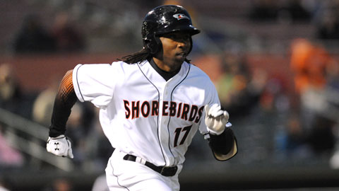 Pope blasted his 19th career home run with the Delmarva Shorebirds.