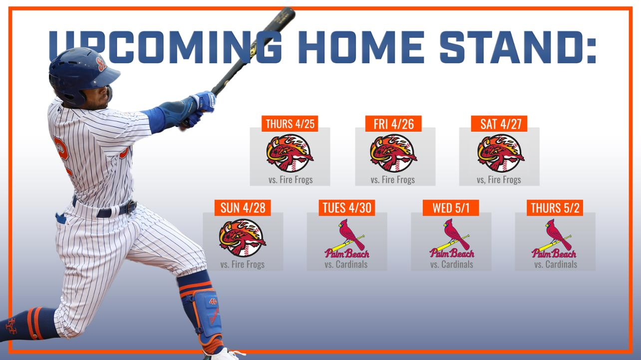 Mets back home on April 25 for Dollar Night