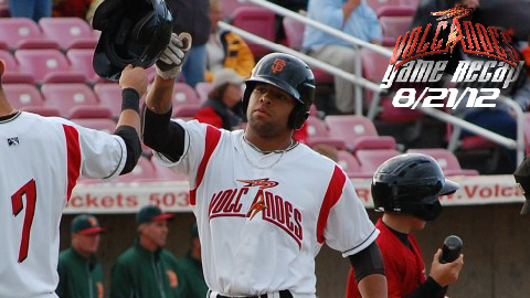 Chuckies Jones' 3-RBI homer leads Volcanoes to victory.
