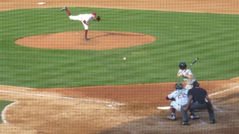 Tyler Wagner struck out ten and pitched the first complete game shutout of the 2013 regular season for the Wisconsin Timber Rattlers in game one on May 8.