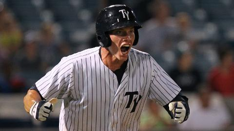 Peter O'Brien hit a walk-off home run to score two runs and give Tampa the 6-5 win.