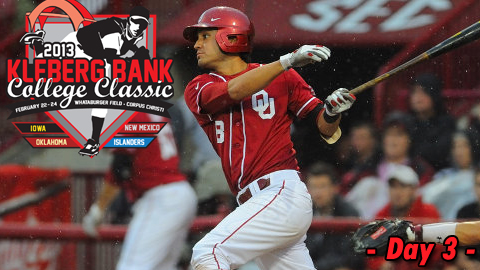 bf9a8081af5cb8 Oklahoma shortstop and tournament MVP Jack Mayfield hit a three-run home  run in the bottom of the eighth inning to lift the Sooners to a 10-8 win  over New ...