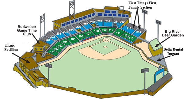 Seating Diagram | Chattanooga Lookouts AT&T Field