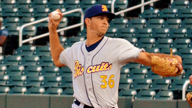 Biscuits  Faria seals Minor League wins title  77400a826