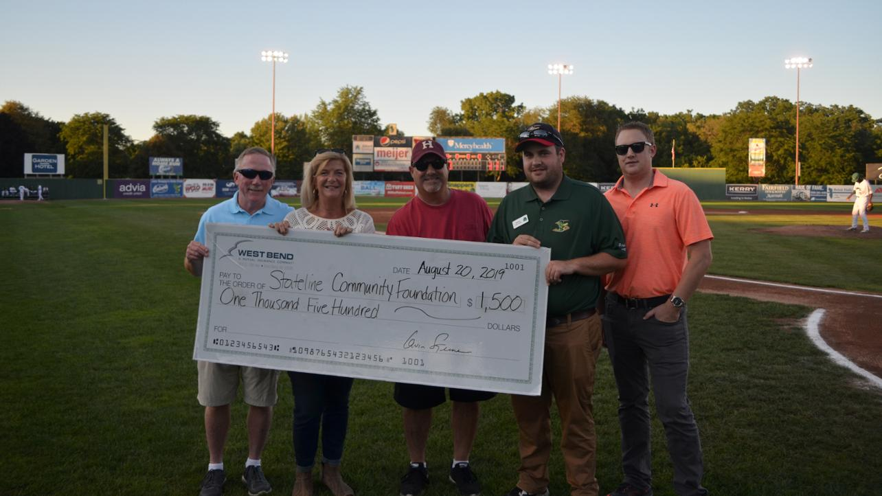 West Bend Mutual & Senz Insurance Donate $1,500 to Stateline CF