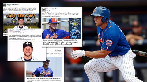 Tim Tebow is starting his career with the Columbia Fireflies, bringing excitement throughout the South Atlantic League.