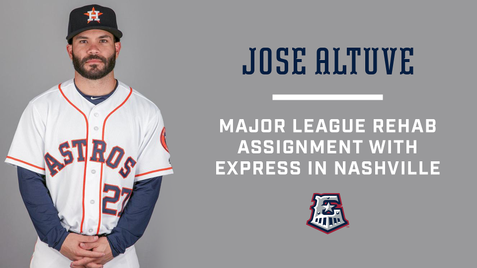 timeless design 8186b df795 Houston Astros 2B Jose Altuve Joins Round Rock Express in ...