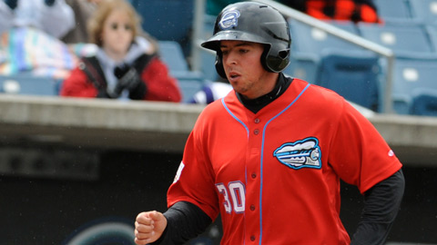 Chris Marrero hit a solo homer and two-run triple in Tuesday's Syracuse win.