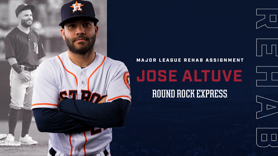timeless design 456d9 d9b25 Houston Astros 2B Jose Altuve Rejoins Round Rock Express on ...