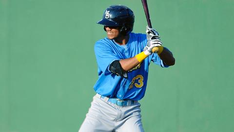 Luis Sardinas ranks fifth in the Carolina League with 105 hits.