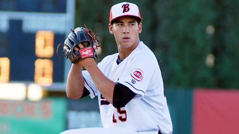 Robert Stephenson is 7-5 with a 2.67 ERA in 18 starts across two levels.