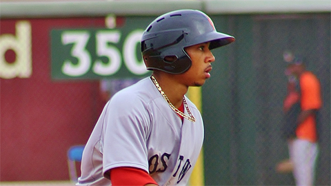 Mookie Betts has stolen 59 bases in 67 attempts in the Minor Leagues.