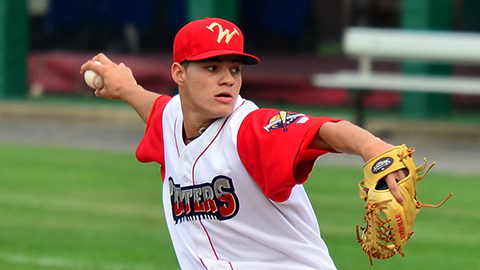 Starter Yacksel Rios pitched 5 inning of no-hit baseball in the Cutters combined no-hitter Sunday.
