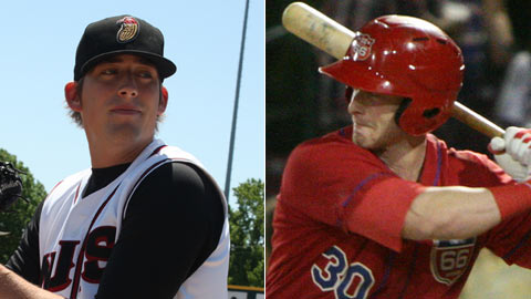 Daniel Winkler (left) and Zach Borenstein were chosen the standout players in the Cal League.