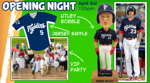 Opening Night is overflowing with promotions, including the Chase Utley bobblehead giveaway.