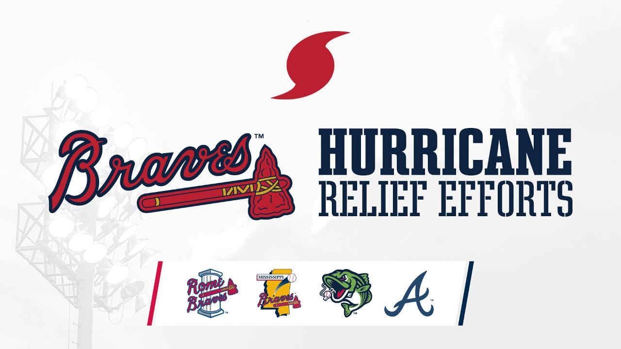 atlanta braves and their minor league affiliates to collect food and