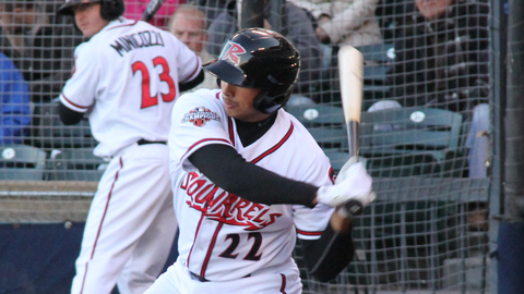 Oropesa's homer powers Squirrels past Fightins, 7-1.
