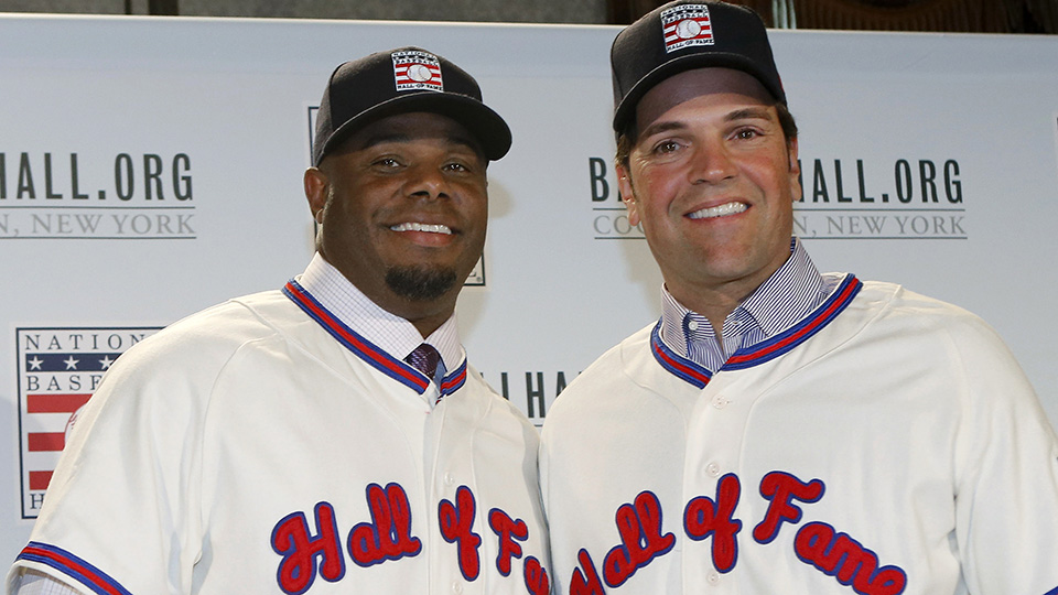 803daff1c5 Class of 2016 includes highest, lowest Draft picks in Cooperstown. Ken  Griffey Jr. ...