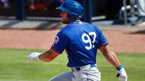 Tim Tebow has hit safely in three straight Grapefruit League games to get his average up to .235.