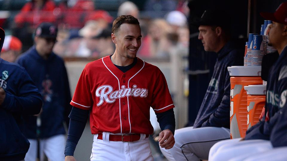 Bishop Collects Two Hits but Rainiers Cannot Close Early Gap in Reno