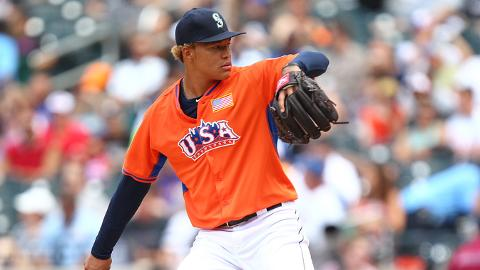 Taijuan Walker hurled a hitless inning of relief at the Futures Game.