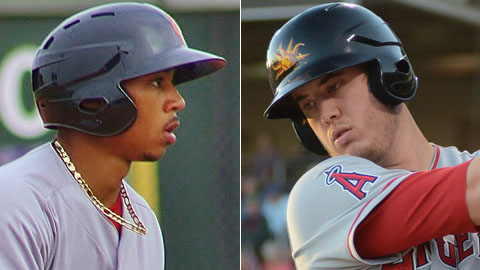 Mookie Betts ranked third in the AFL with eight steals while C.J. Cron led with a .413 average.