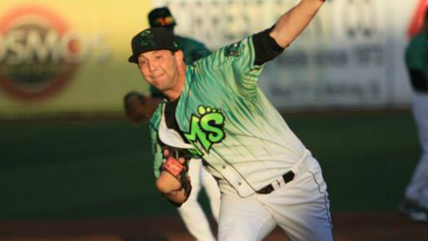 Erik Schoenrock is tied for second in the Northwest League with 28 strikeouts.