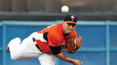 Eddie Gamboa posted a 6.23 ERA in nine starts with Norfolk in 2013.