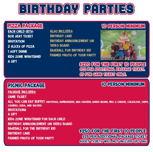 Birthday Parties Harrisburg Senators Tickets