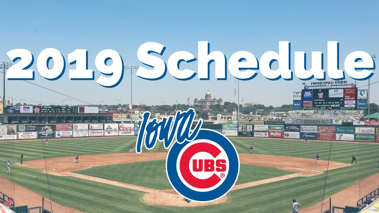 Iowa Cubs Set 2019 Schedule Iowa Cubs News