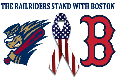 The RailRiders will try to help their friends in Boston with a fundraising auction on Friday night at PNC Field.