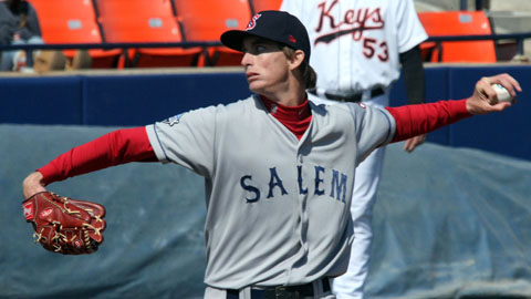 Henry Owens has a 2.93 ERA in 92 innings for Salem this year.
