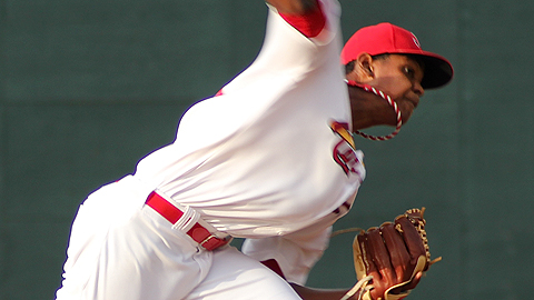 Alex Reyes retired 18 of the 20 hitters he faced Wednesday.