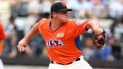 Kyle Crick appeared for Team USA in this year's Futures Game at Citi Field.