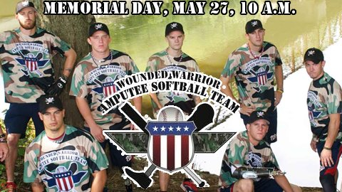 The Wounded Warrior Amputee Softball Team is coming to CMC-NorthEast Stadium Memorial Day 2013.