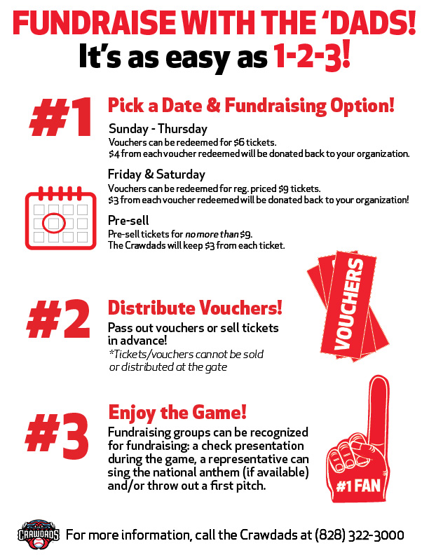 Fundraising With The Crawdads  Hickory Crawdads CommunityEvents