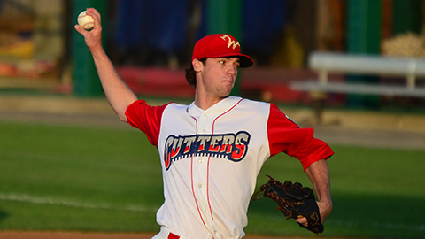 Starting pitcher Shane Martin allowed only one hit and one run in five innings of work during the Cutters win on Thursday.