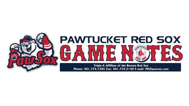 544c2210d PawSox Game Notes: August 16 | Pawtucket Red Sox News