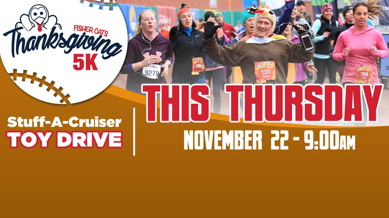 Register for the Fisher Cats Thanksgiving 5K!