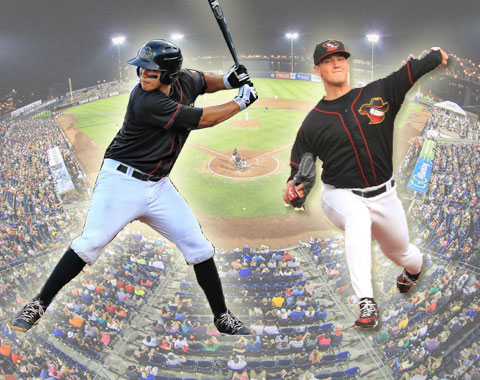 Rio Ruiz and Brian Holmes helped the River Bandits clinch a playoff berth in August.