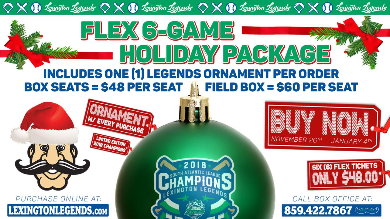 Flex 6-Game Holiday Package ---- 2018